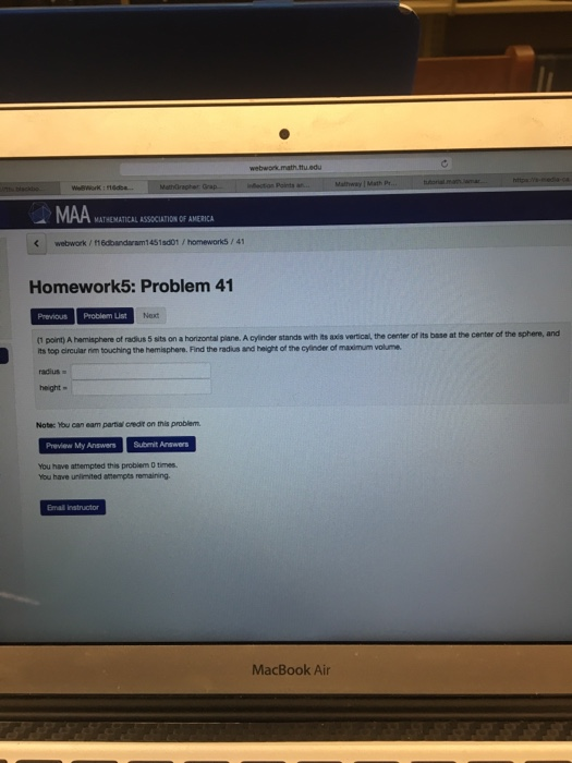 Solved: Webwork Math.ttu.edu Mathway I Math Limit H To 0 ...