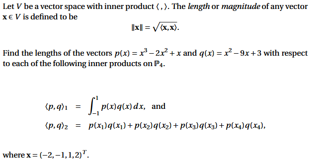 solved: let v be a vector space with inner product·). the ... | chegg.com  chegg