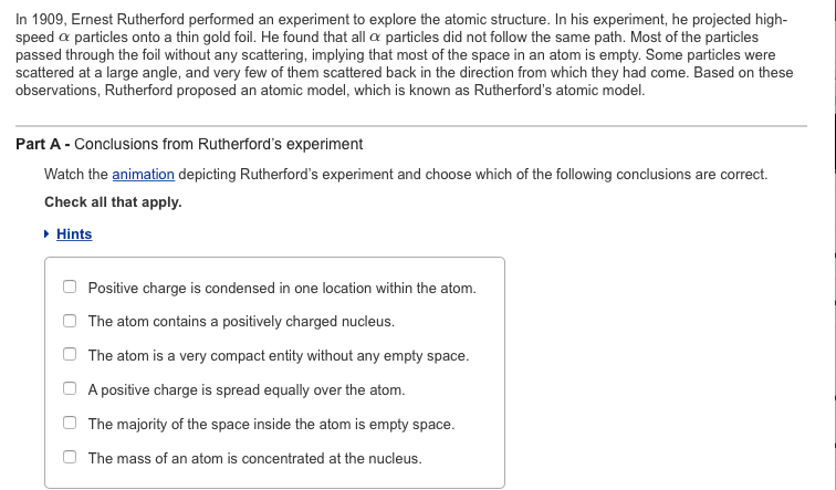 Solved in 1909 ernest rutherford performed an experiment in 1909 ernest rutherford performed an experiment to explore the atomic structure in his ccuart Gallery