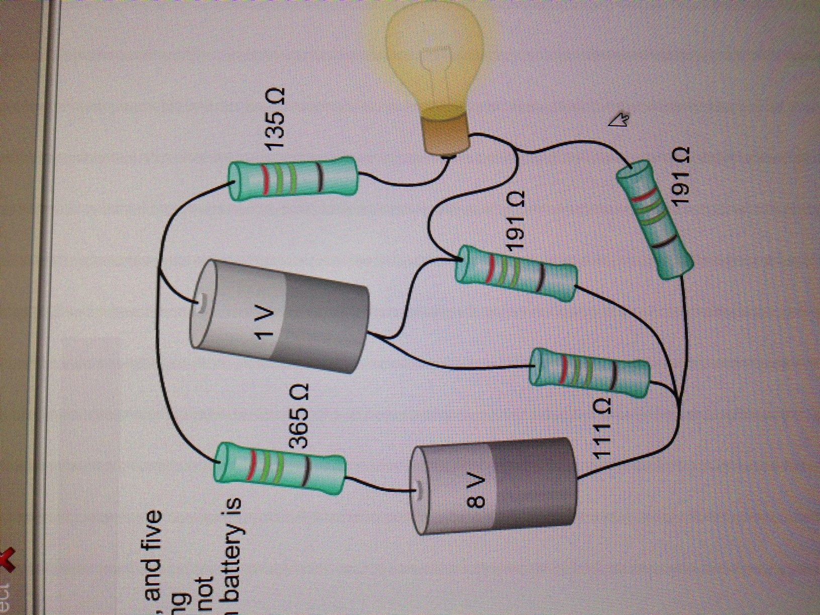 Schematic A Battery Left Connecting To A Lightbulb Right The