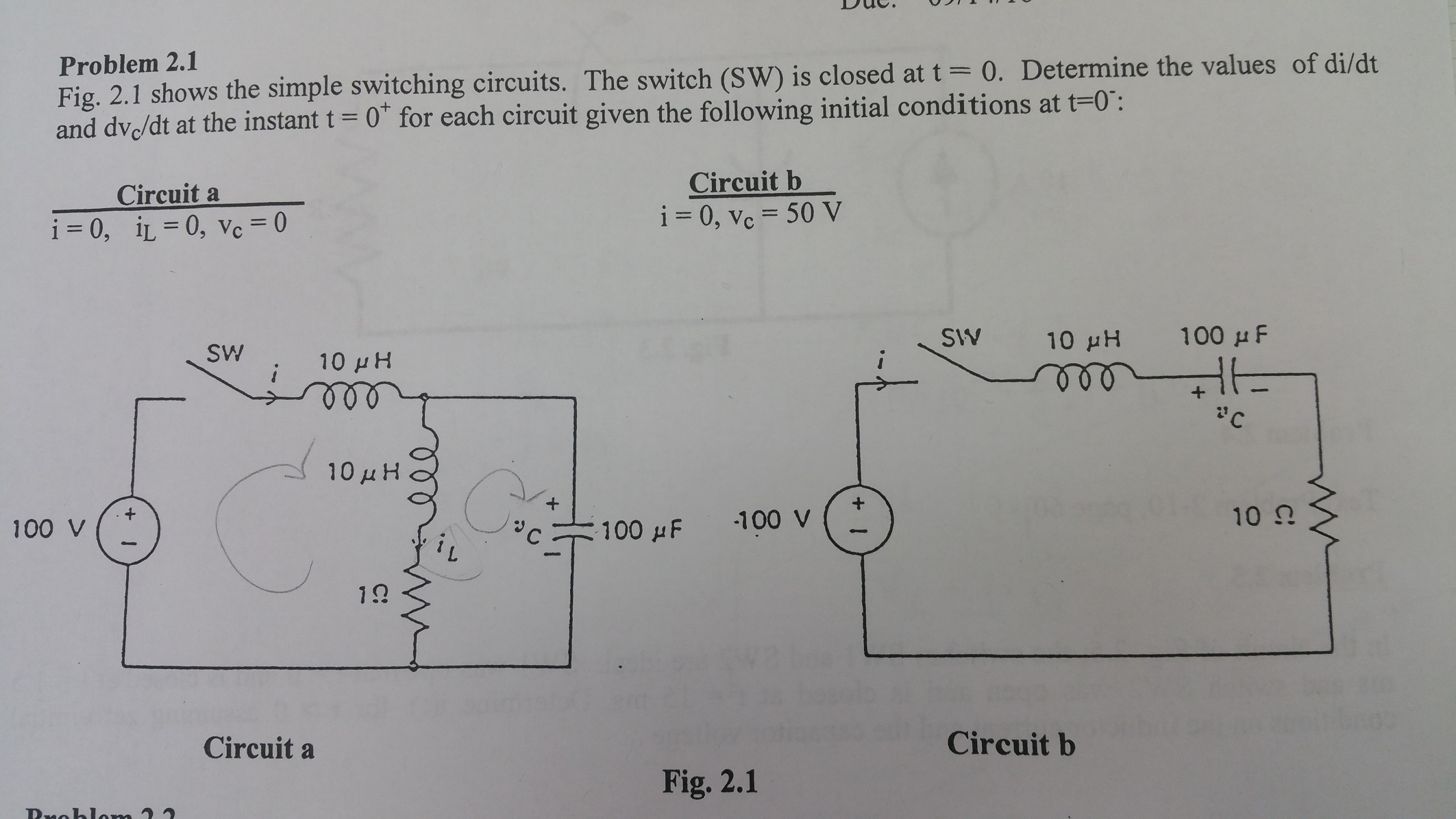 Solved: Shows The Simple Switching Circuits. The Switch (S ...