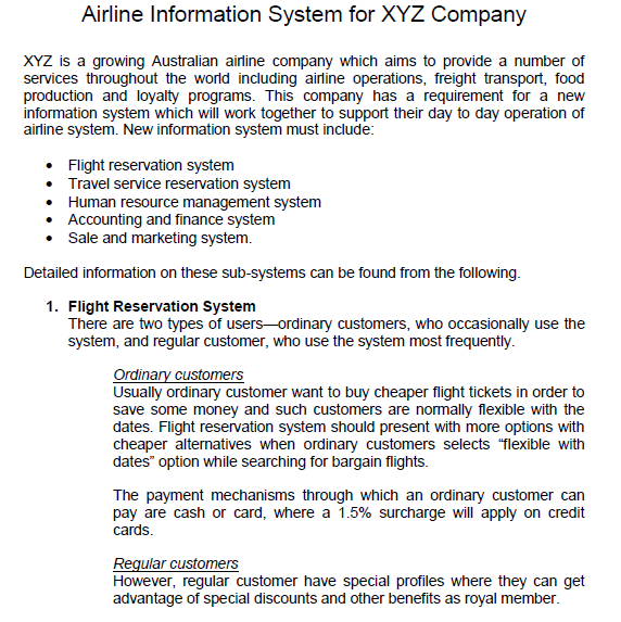 Solved question identify all the use cases for the case airline information system for xyz company xyz is a growing australian airline company which aims to ccuart Image collections