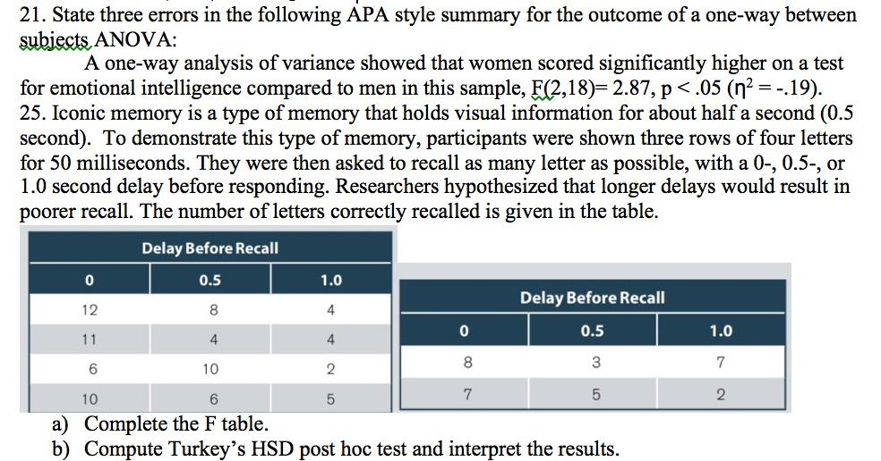 solved 21 state three errors in the following apa style