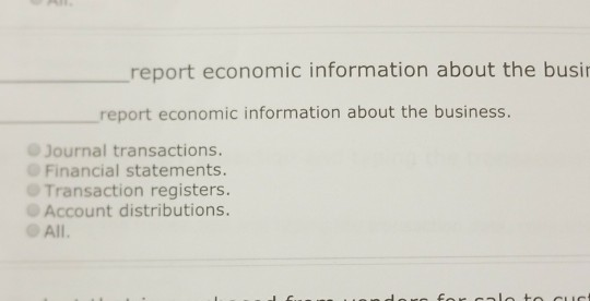 solved report economic information about the busi report