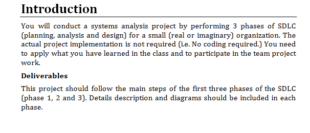 Course System Analysis Design I Have Choosed M Chegg Com