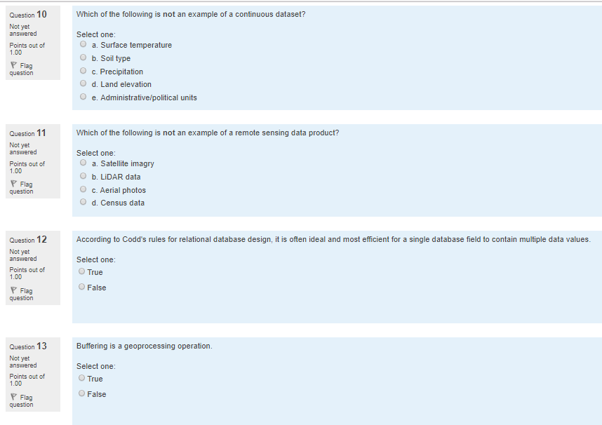 Solved: Question 10 Which Of The Following Is Not An Examp ...