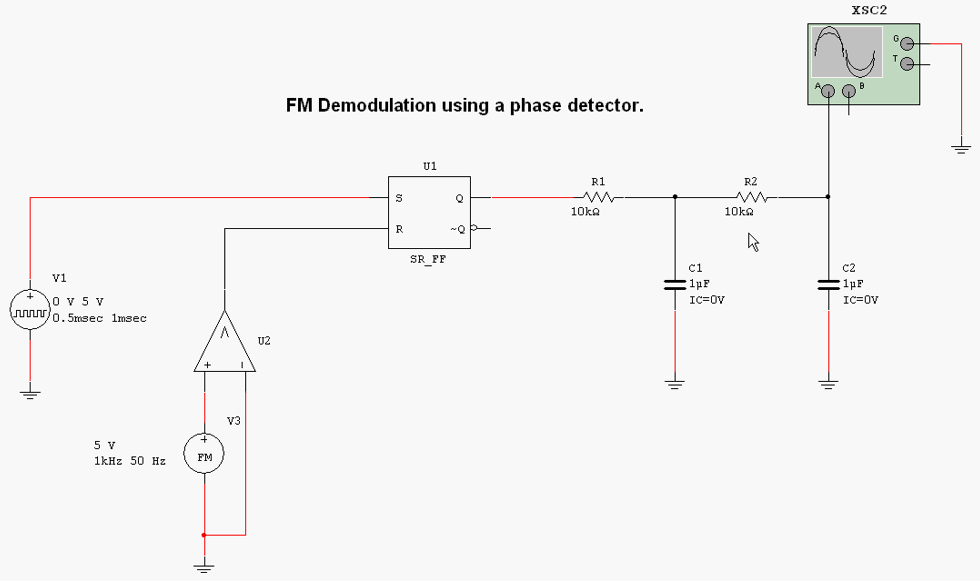 Solved Construct The Fm Demodulator Circuit With Multisim