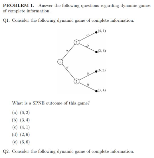Solved: PROBLEMI Answer The Following Questions Regarding