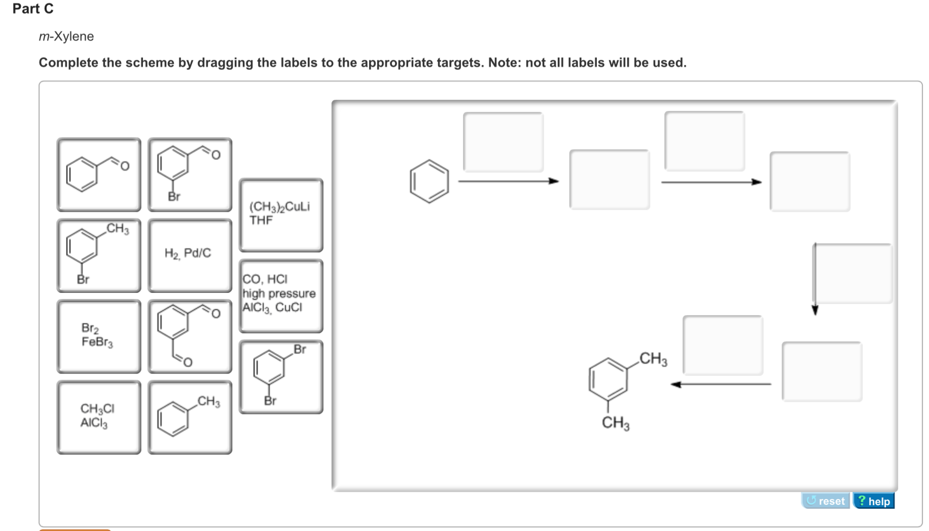 Solved: M-Xylene Complete The Scheme By Dragging The Label