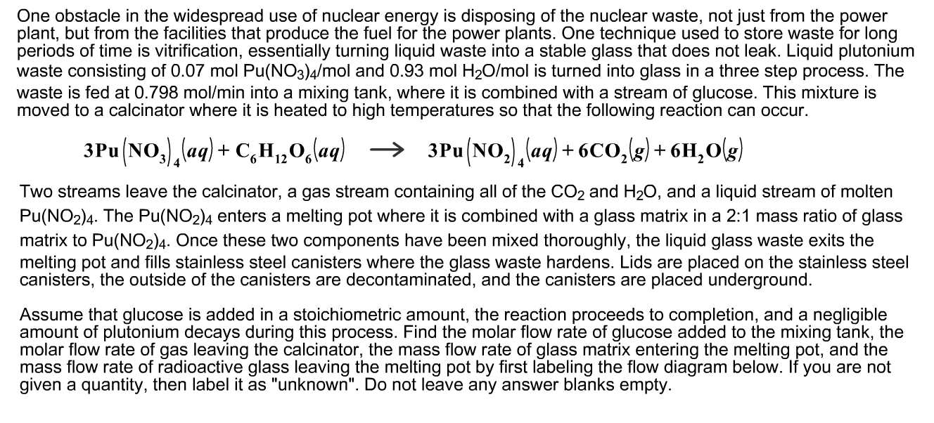 Solved  One Obstacle In The Widespread Use Of Nuclear Ener