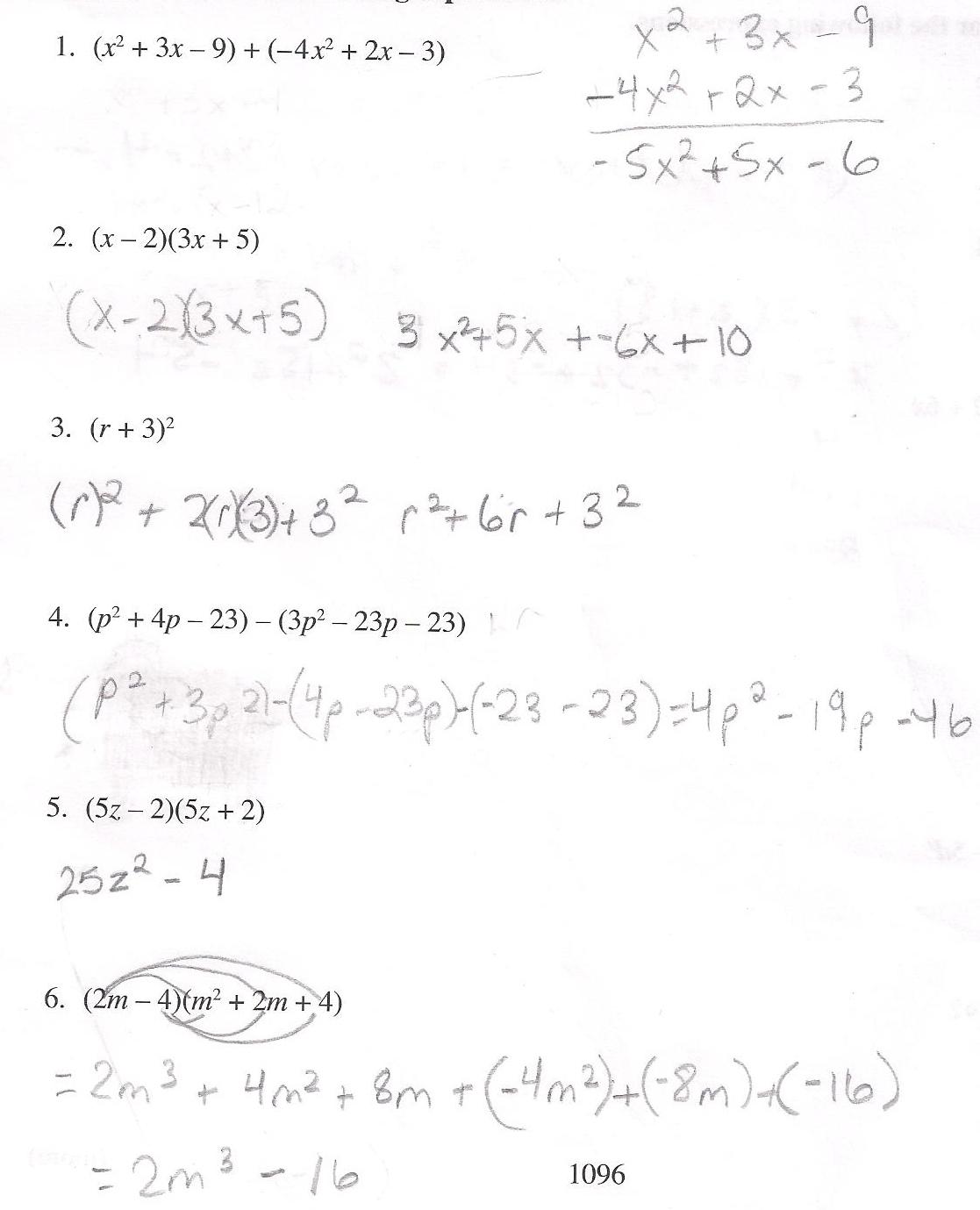 �9ᢹ�9f�x�r[��x��_Solved:(x2+3x-9)+(-4x2+2x-3)(x-2)(3x+5)(r|Chegg.com