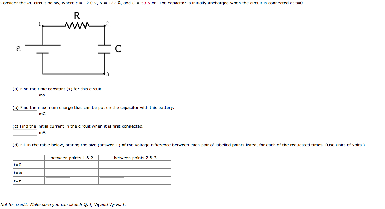 Solved Consider The Rc Circuit Below Where Epsilon 12 Circuits With Multiple Batteries Please Answer Tho Cheggcom