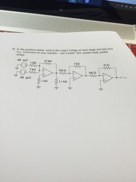 In the problem below what is the output voltage at