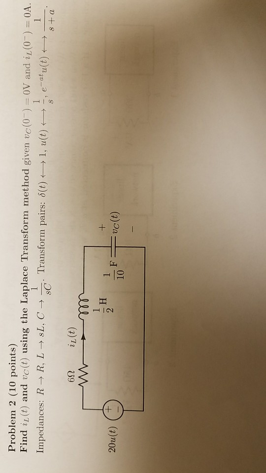 Problem 2 10 points Find ist and