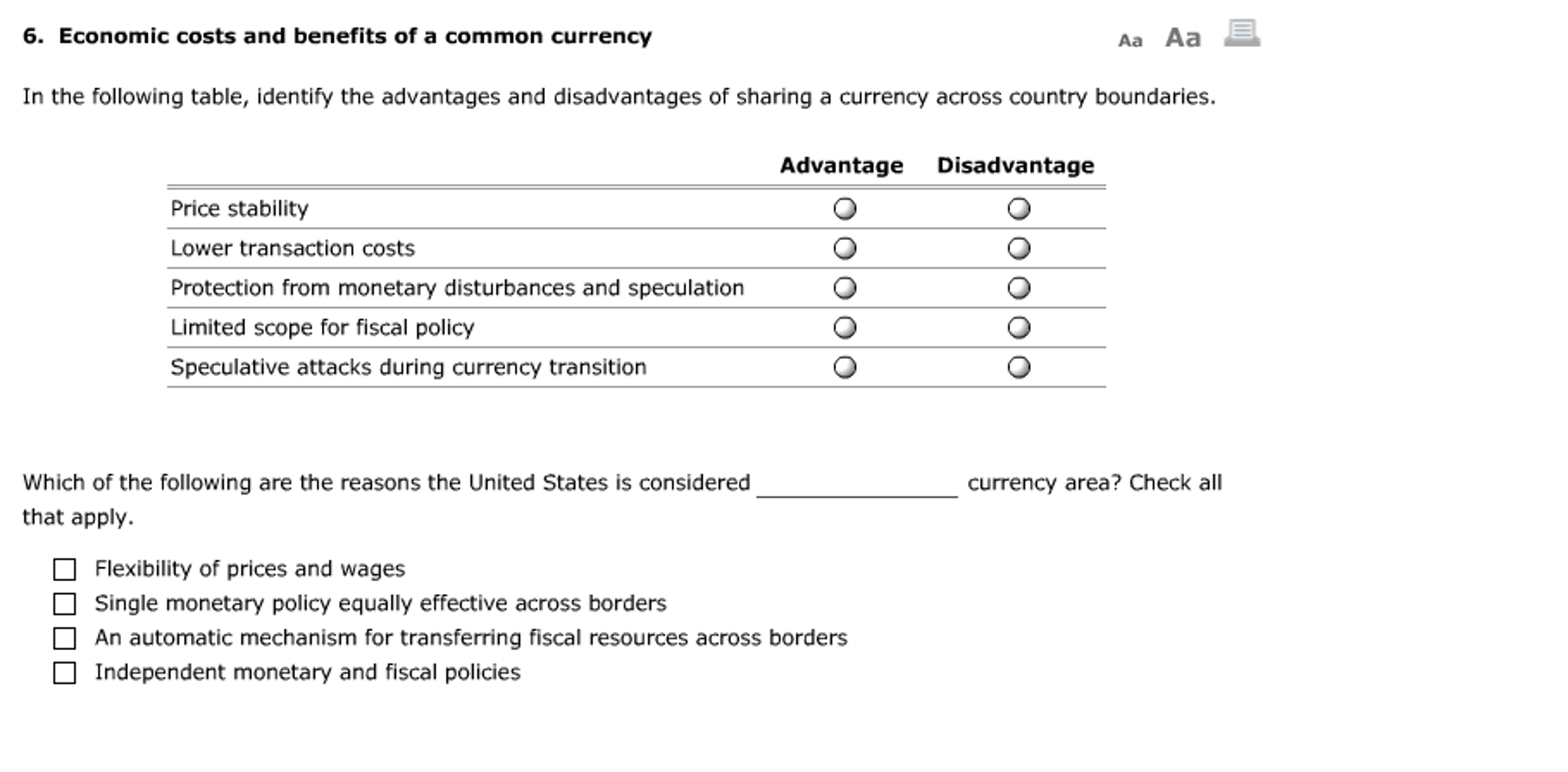 advantages and disadvantages of monetary policy