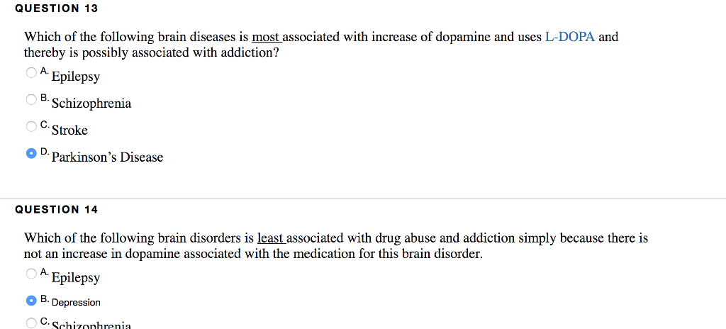 Solved: QUESTION 13 Which Of The Following Brain Diseases