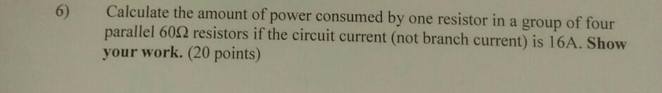 Calculate the amount of power consumed by one resi