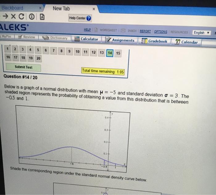 Solved: Blackboard X New Tab Help Center ALEKS HELP WORKSH ...