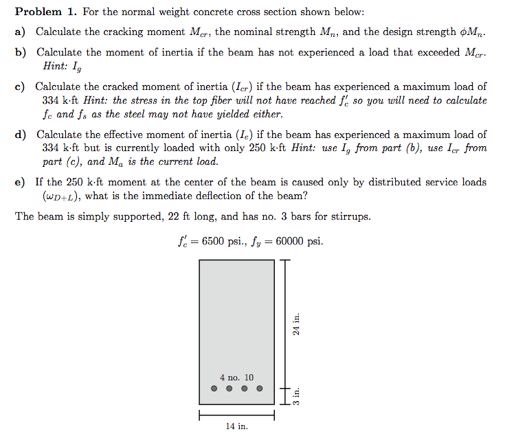 how to calculate the self weight of a concrete beam