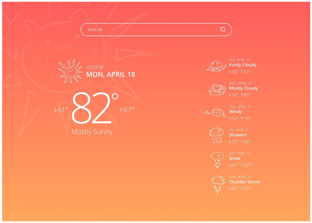 Develop A Weather Forecast Website Using Only Java