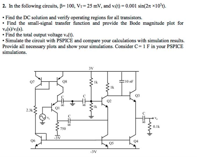2 in the following circuits 100 vr 25 mv an chegg com rh chegg com
