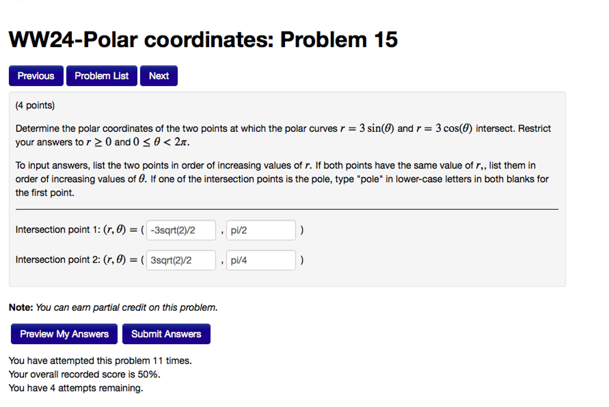 Determine The Polar Coordinates Of The Two Points How To Find Area Enclosed  By Curve