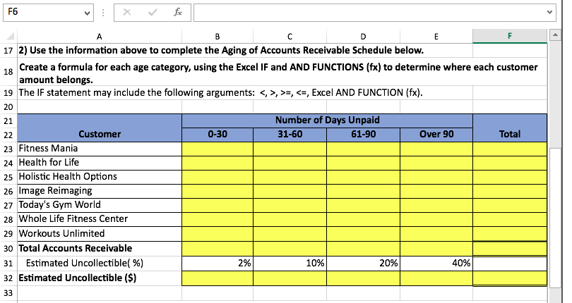 solved all answers should be in excel formulas xercise c