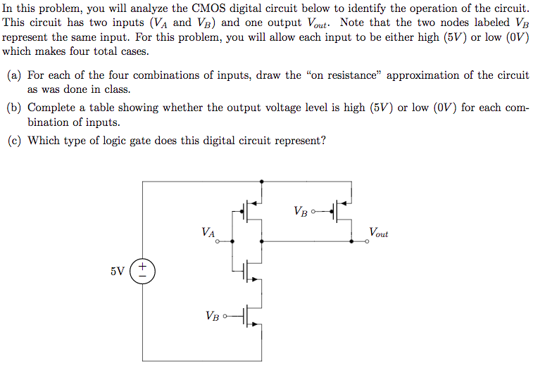 Solved: In This Problem, You Will Analyze The CMOS Digital