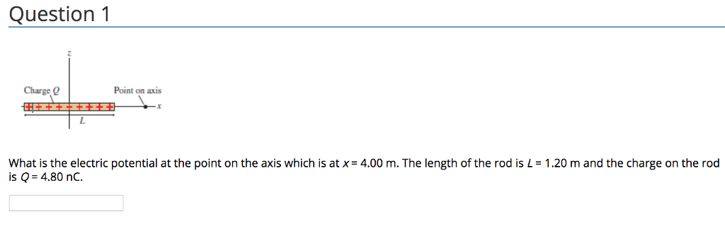 Physics archive february 15 2018 chegg question 1 charge q point on axis what is the electric potential at the point on fandeluxe Images