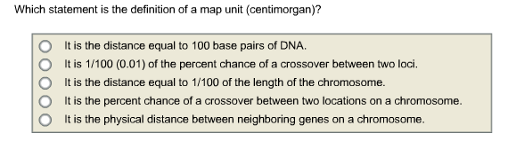 Solved: Which Statement Is The Definition Of A Map Unit (c ... on