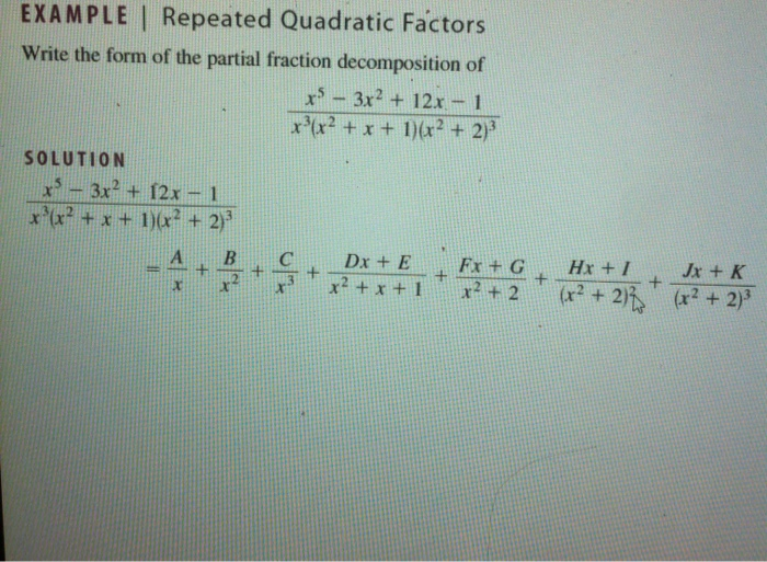 Solved: Write The Form Of The Partial Fraction Decompositi ...