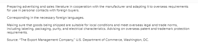 Solved: Requlred Informatlon How An Export Management Comp