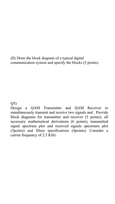 Solved ii draw the block diagram of a typical digital c communication systems ii draw the block diagram of a typical digital c ccuart Choice Image