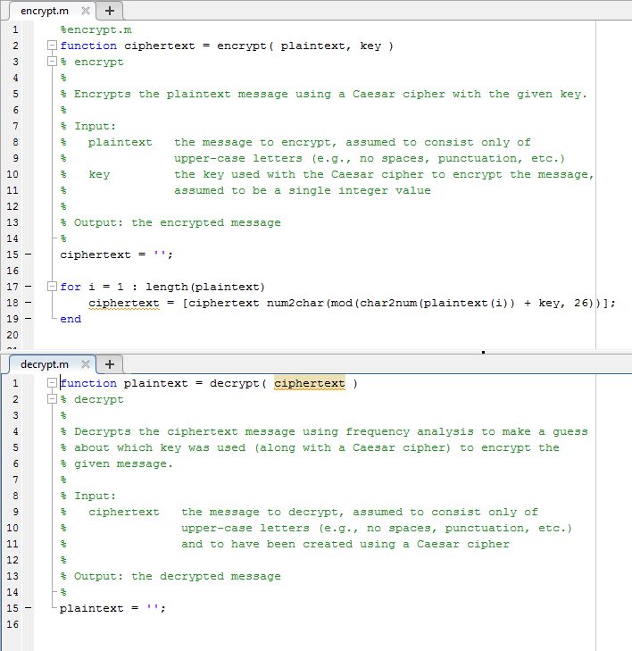 Solved: Please Do In MATLAB  I Have The Code For The Encry
