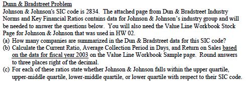 Dunn & Bradstreet Problem Johnson & Johnson's SIC
