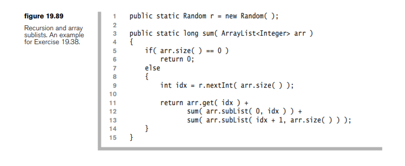 Solved: *JAVA* List Method SubList(from,to) Returns A View