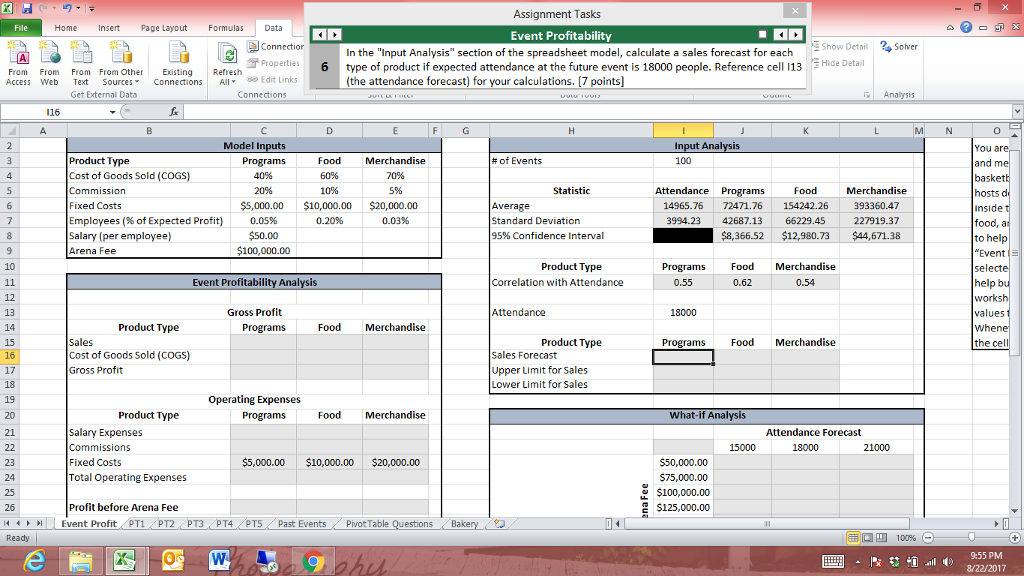 solved i need the excel formula for finding the sales for