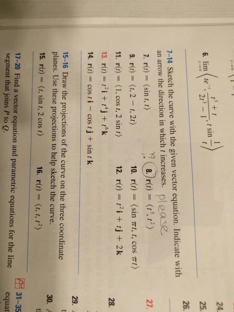 Solved: Sketch The Curve With The Given Vector Equation  I