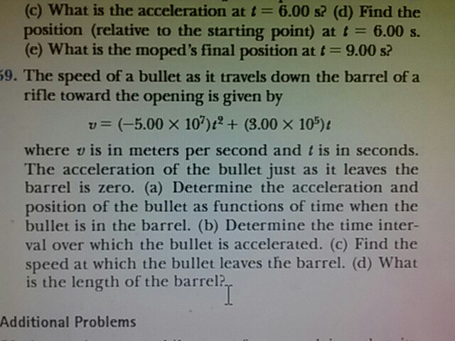 Solved: What Is The Acceleration At T = 6 00 S? (d) Find T