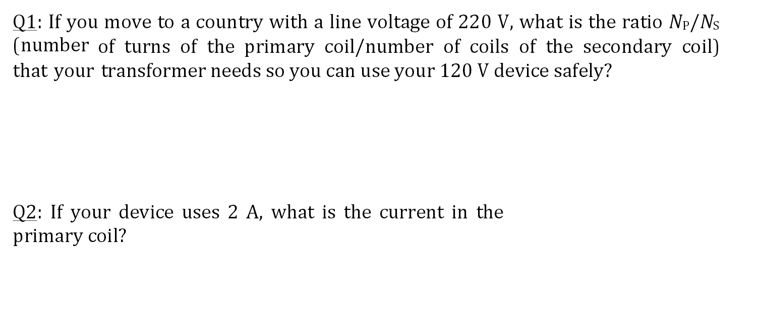 If you move to a country with a line voltage of 22