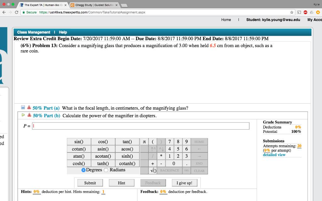 Solved: N The Expert TA 1 Human-like G × Chegg Study Guide
