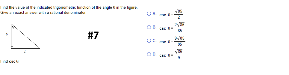 Solved: Find The Value Of The Indicated Trigonometric Func