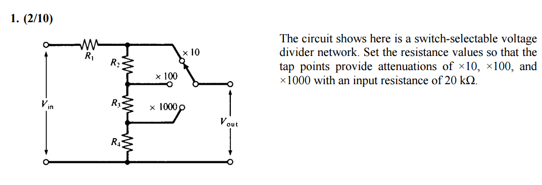 Solved: The Circuit Shows Here Is A Switch-selectable Volt ...