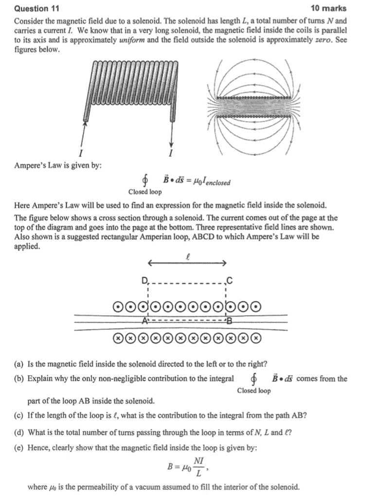 Solved: Consider The Magnetic Field Due To A Solenoid  The