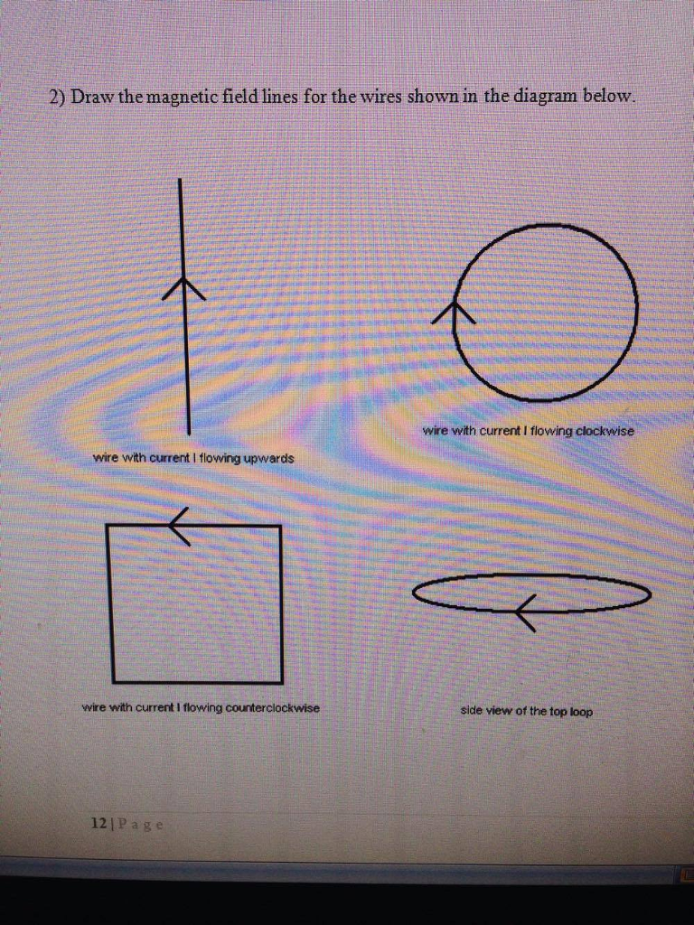 Solved: 2) Draw The Magnetic Field Lines For The Wires Sho ... on gmc fuse box diagrams, led circuit diagrams, pinout diagrams, electrical diagrams, switch diagrams, battery diagrams, electronic circuit diagrams, honda motorcycle repair diagrams, lighting diagrams, smart car diagrams, transformer diagrams, engine diagrams, sincgars radio configurations diagrams, motor diagrams, hvac diagrams, troubleshooting diagrams, series and parallel circuits diagrams, internet of things diagrams, friendship bracelet diagrams,