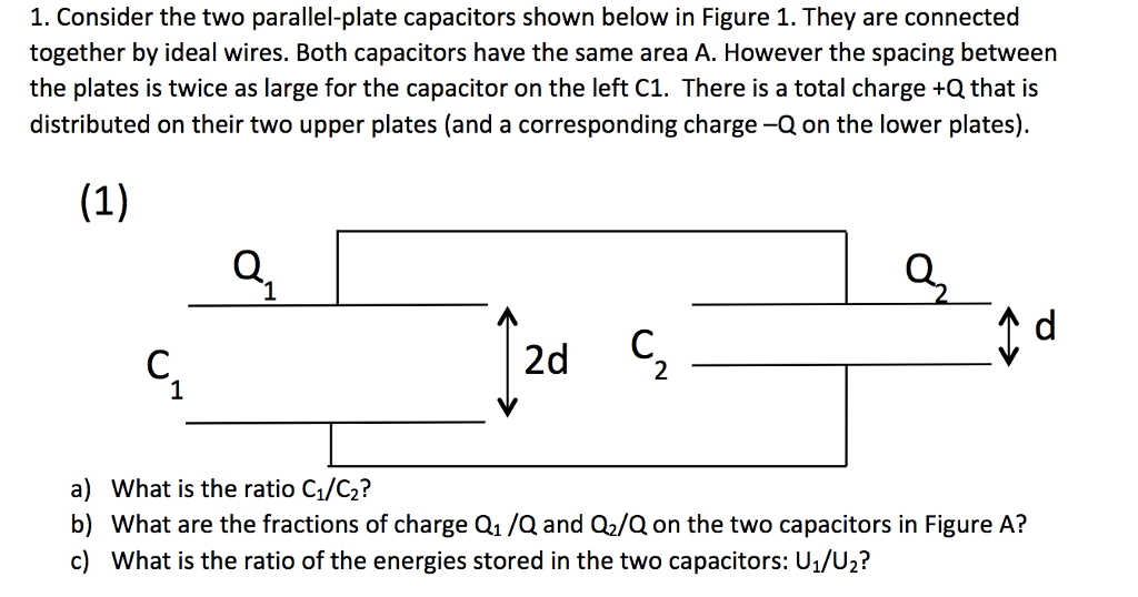 Super Solved 1 Consider The Two Parallel Plate Capacitors Show Wiring 101 Cajosaxxcnl