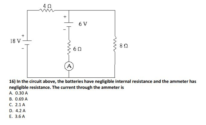 Solved In The Circuit Above The Batteries Have Negligibl