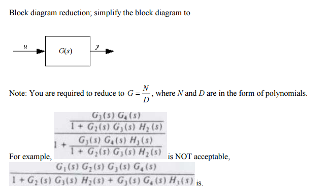 Solved block diagram reduction simplify the block diagra block diagram reduction simplify the block diagram to gs note you ccuart Gallery