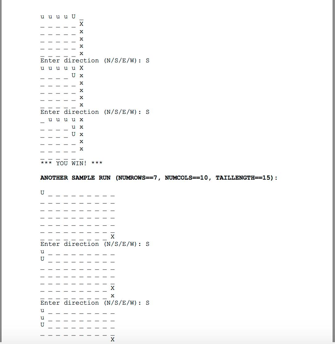 Snake Game C++ Program  Problem Statement In Image
