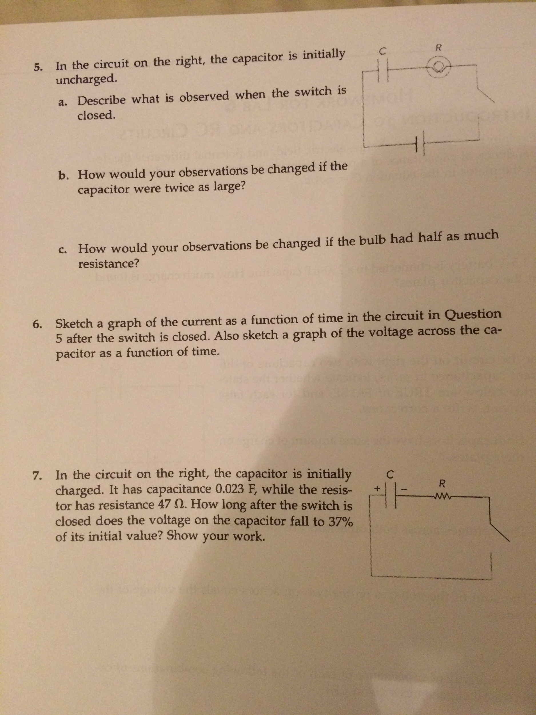 Solved Explain In Terms Of The Charge Electric Field An Changing Voltage Across A Circuit Too High And Bulb See More Show Transcribed Image Text Potential Difference Dependence Capacitance